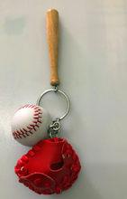 3,8 cm cuerda de cuero tejido voleibol llavero bola clave titular de voleibol regalos clave Auto coche llavero regalos para los deportes equipo(China)