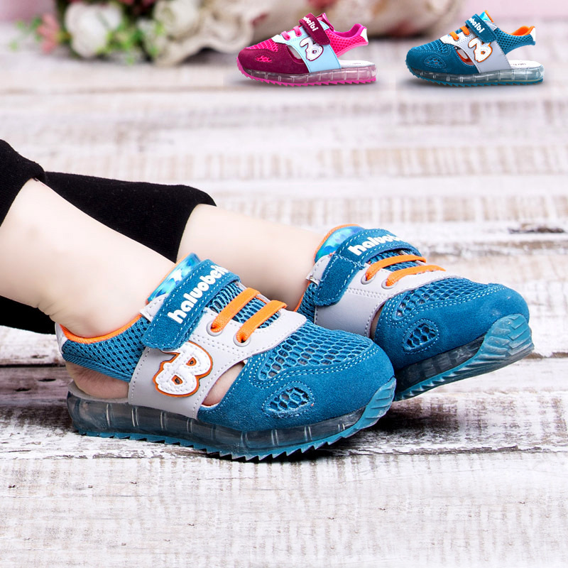 Hot Sale New 2015 Summer Mesh Children's sandals Air shoes for girls Size 21-30 boys footwear kids leather sandal TX77(China (Mainland))