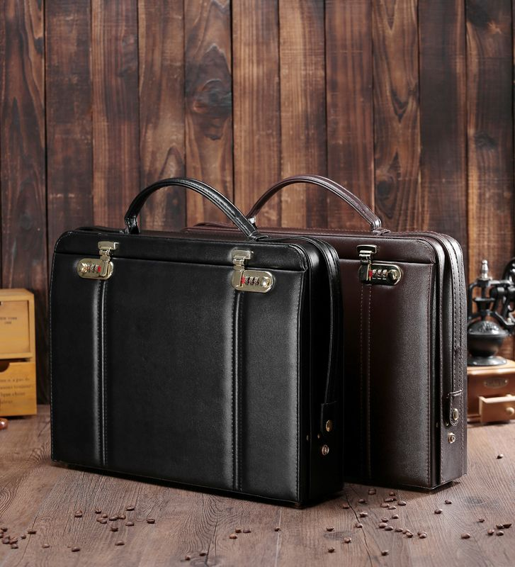 briefcases Tool case handbag toolbox security equipment Leather briefcase lock file case toolbox 41.5*30.5*9cm shipping free(China (Mainland))