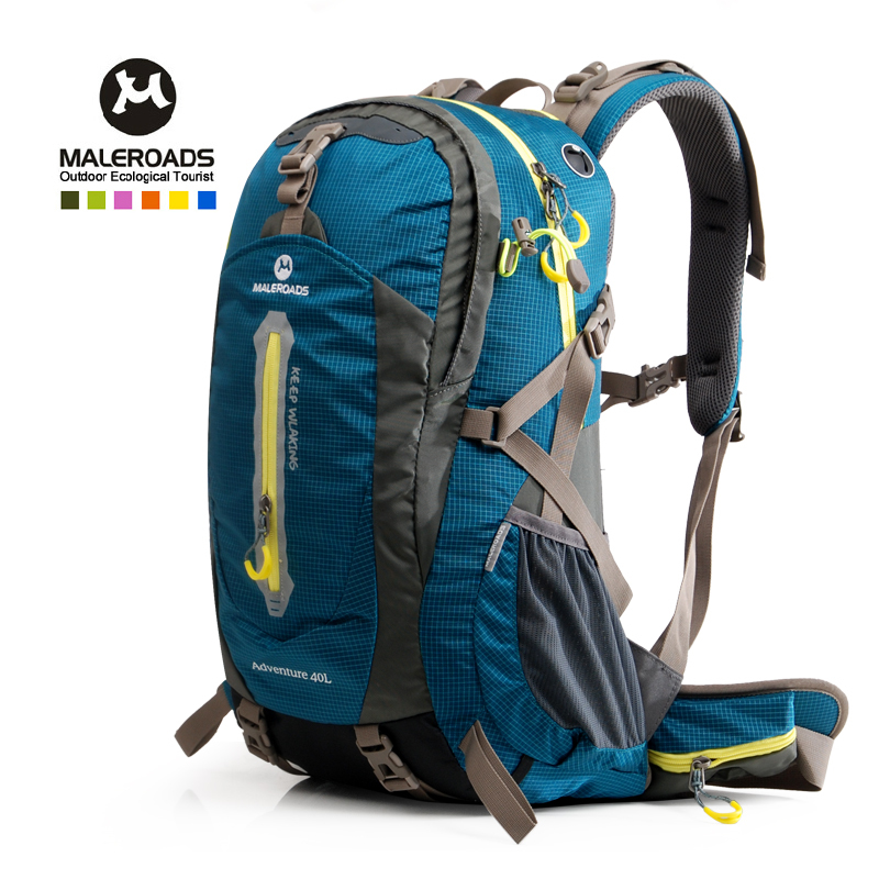 Maleroads Spring Hiking new mountain bag outdoor camping hiking bag nice backpack men wowen travel backpack climbing pack 50L(China (Mainland))