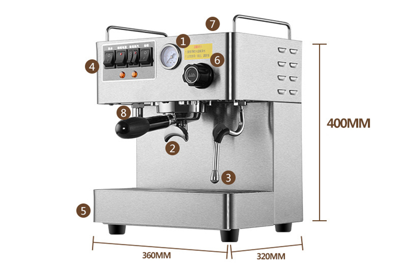 makers how to use krups krups coffee and espresso maker modern french press consists. Black Bedroom Furniture Sets. Home Design Ideas
