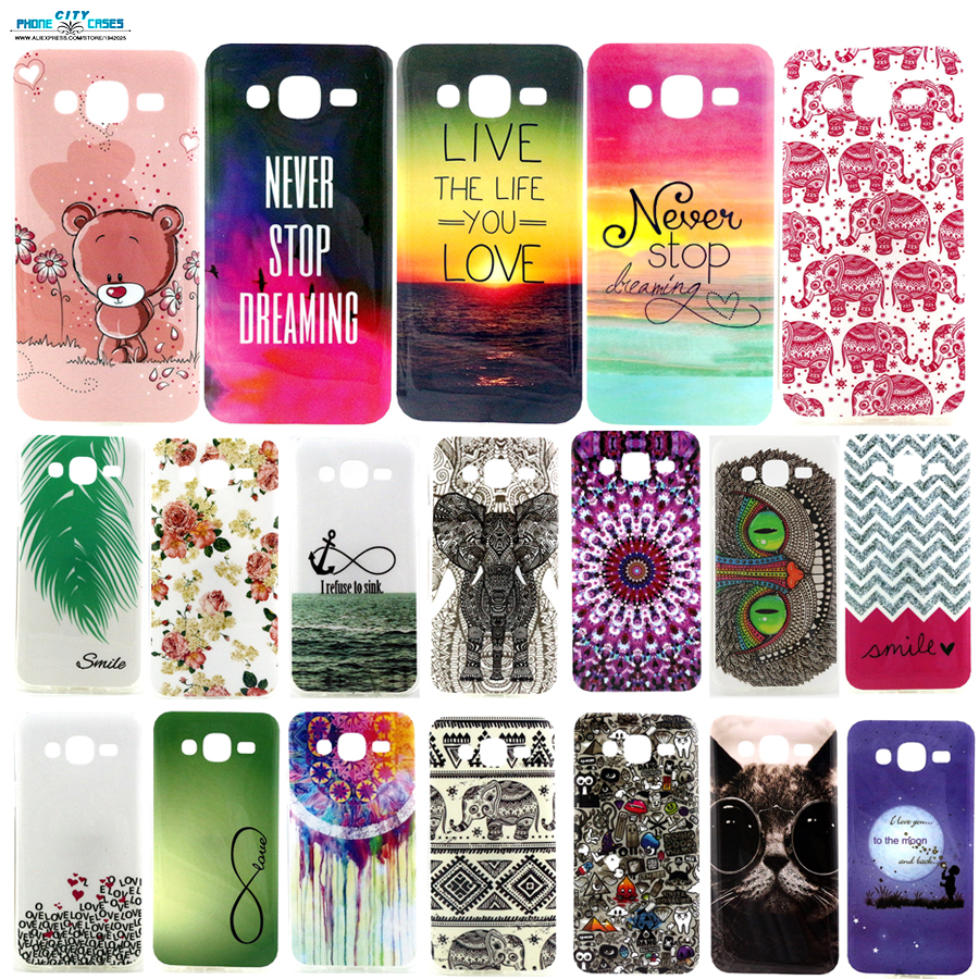 IMD & TPU Soft Mobile phone back cover shell For Samsung Galaxy J5 case Inspired text pink bear elephant cat moon wavy pattern(China (Mainland))