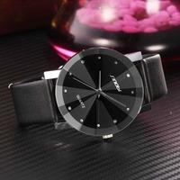 2015新しい sinobi腕時計高級ブランド ダイヤモンド クリスタル シルバーケースエレガント男性クォーツ腕時計ギフト ドレスメンズレザーストラップ腕時計