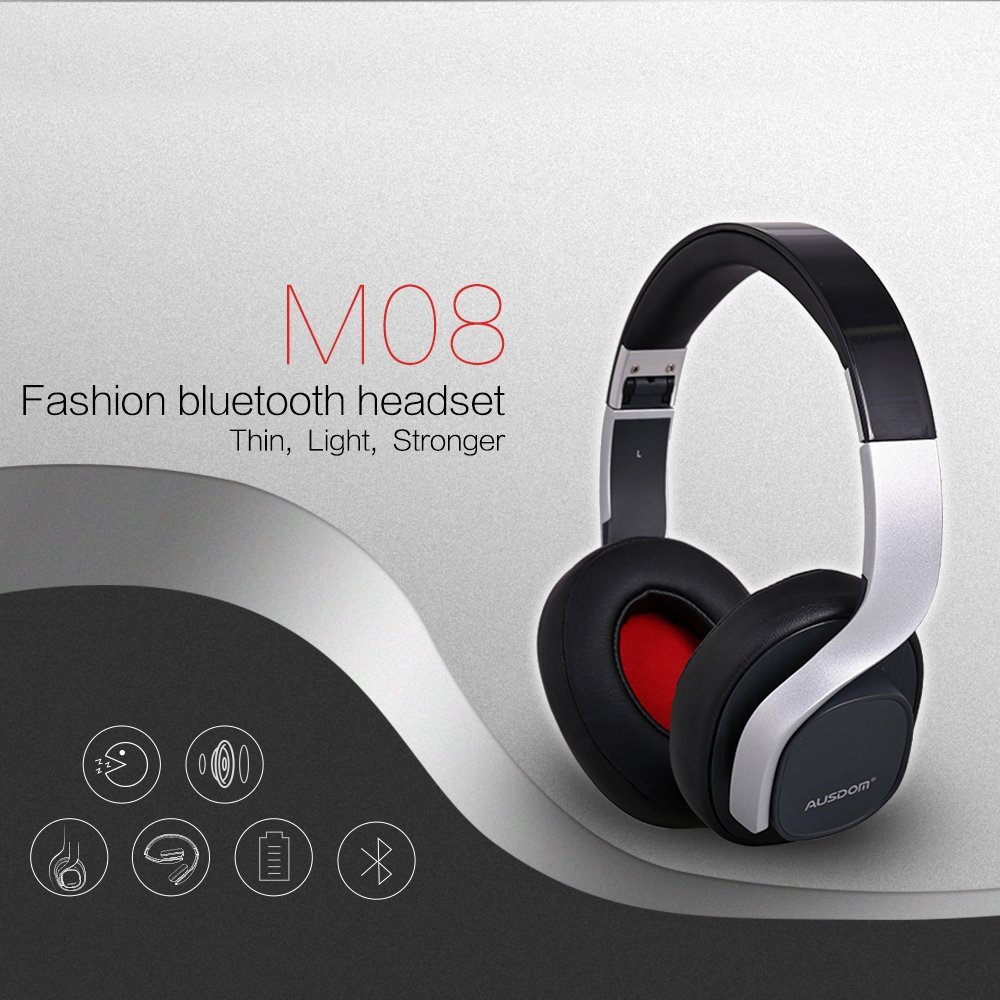 buy ausdom m08 wire wireless headphone earphone fashion foldable bluetooth. Black Bedroom Furniture Sets. Home Design Ideas