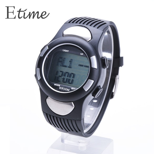 High Quality Fitness 3D Sport Watch Pulse Heart Rate Monitor Digital Watch With Pedometer/Stopwatch Calories Counter B20