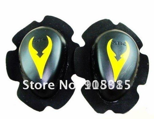 Free shipping 1pairs SBK Knee Slider,knee protector, motorcycle racing knee protector Yellow bhyu