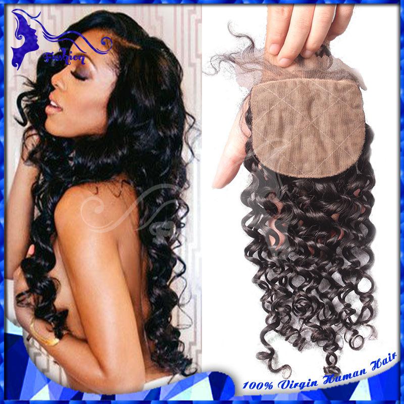 Cheap Curly Silk Base Closures 4X4 Virgin Human Hair Peruvian Deep Curly Silk Top Closure Free Middle 3 Part Silk Closure Stock<br><br>Aliexpress