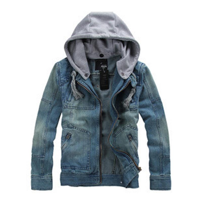 Denim Jacket Hoodie Mandarin Collar Men Promotion-Shop for ...