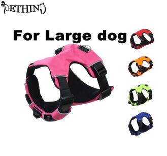 Free shipping high end padded pet dog harness Multifunctional use quick release big dog large dog harness pet dog harness vest(China (Mainland))