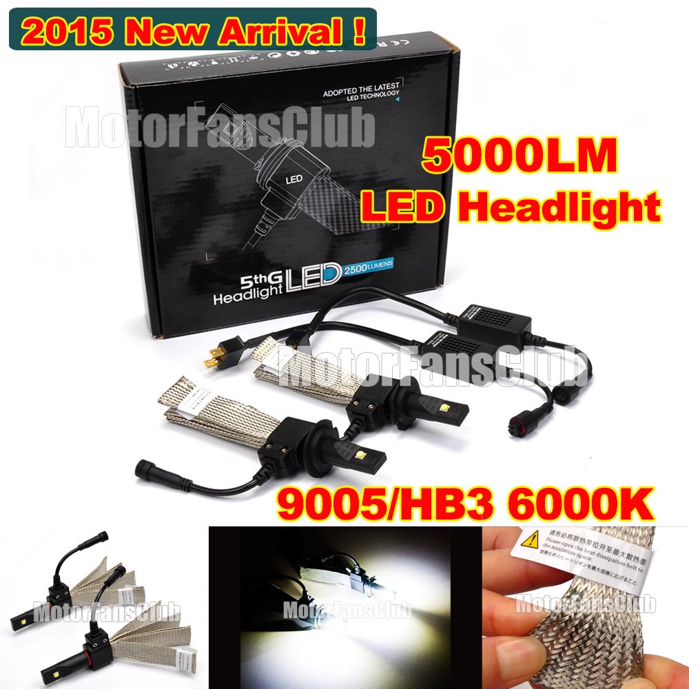2015 40W 5000LM 9005 HB3 Cree LED Headlight Conversion Kit Driving Lamp Bulb Xenon Motorcycle Car Light Source 6000K(China (Mainland))
