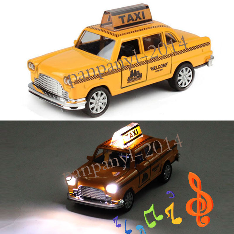 for Ford Thunderbird Taxi Toy Vehicles Yellow 1:32 Alloy Diecast Model Kid Toy Car Gift Pull Back with Light Music Door can Open(China (Mainland))