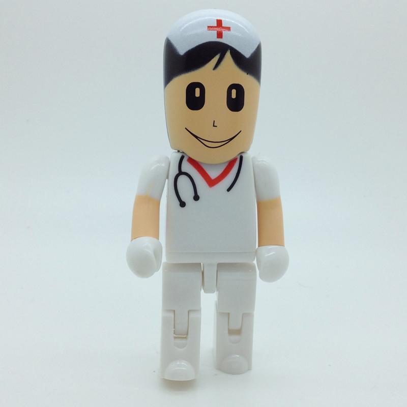 pen drive cartoon teacher doctor 4gb 8gb 16gb 32gb 64gb nurse PVC bulk usb flash drive flash memory stick pendrive mini(China (Mainland))