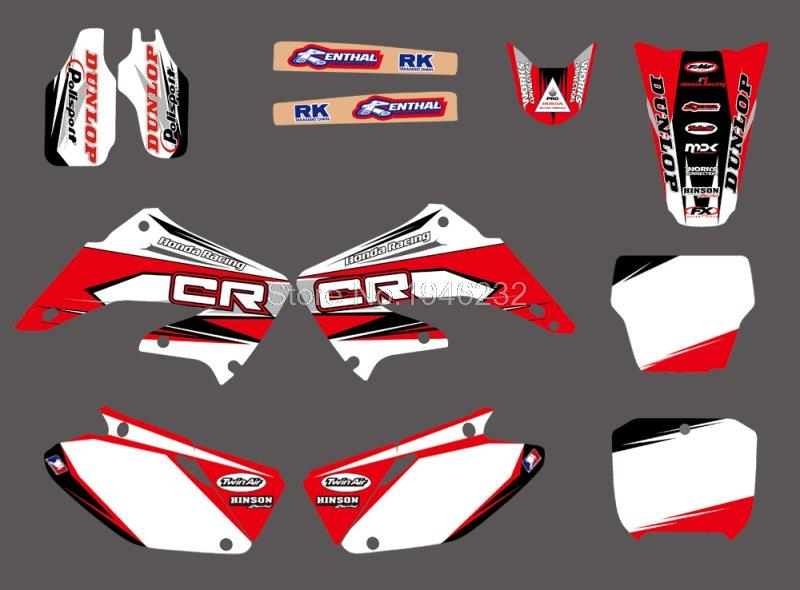 0030 New Style TEAM GRAPHICS&amp;BACKGROUNDS DECALS STICKERS Kits for  CR125 CR250 2002 2003 2004 2005 06 07 08 09 10 11 2012<br><br>Aliexpress