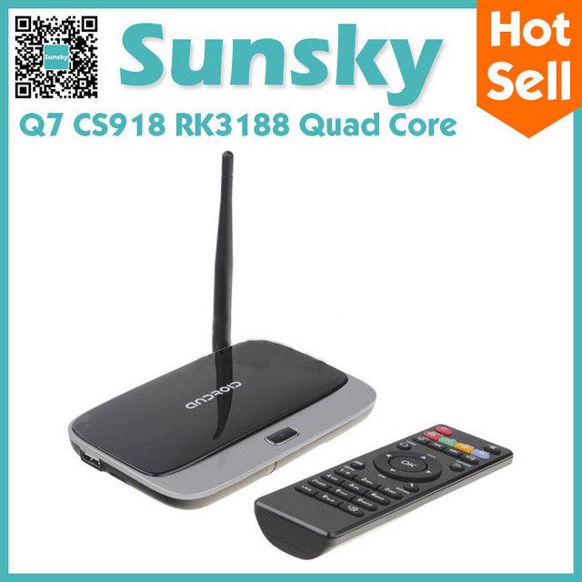 Q7 Quad Core Google Android 4.2 mk888 Cortex-A9 1.6Ghz TV BOX HDMI HDD Player 2G/8G External Wifi Antenna Ethernet black