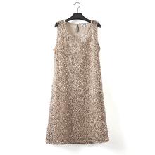 stretchable new fashion women summer dress sleeveless gray casual dresses wild plus size dress party evening elegant vestidos