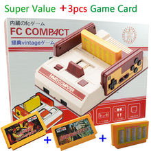 New TV Video Game Console FCompact Classic Family TV Game Player jeux juegos +3pcs Game Cards Send With Retail Box Free Shipping(China (Mainland))