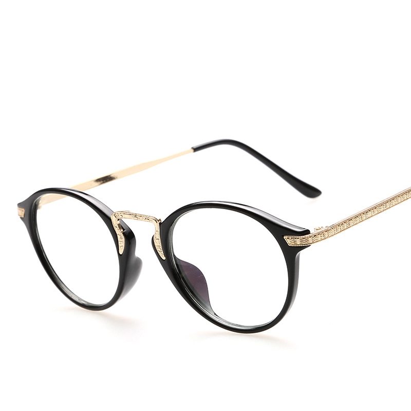 Glasses Frames With Plain Glass : 2015 High Quality anti-UV & radiation plain mirror glasses ...