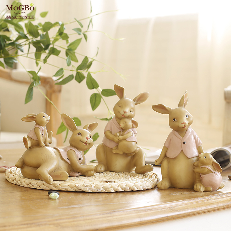 Online get cheap easter rabbit decorations for Rabbit decorations home