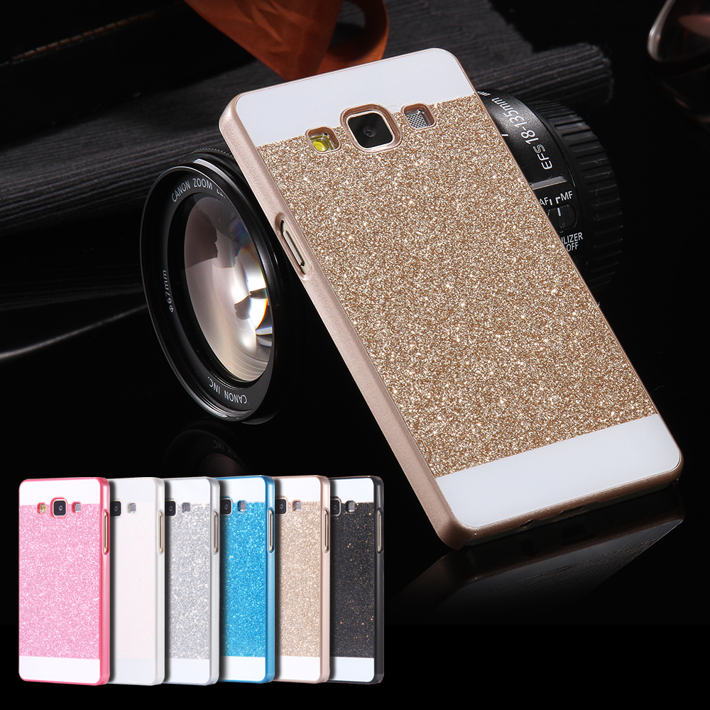 A5/A7 Bling Cases! Ultra Thin Slim Hard Plastic Glitter Powder Luxury Case For Samsung Galaxy A5 A5000 A7 A7000 Sparkling Cover(China (Mainland))