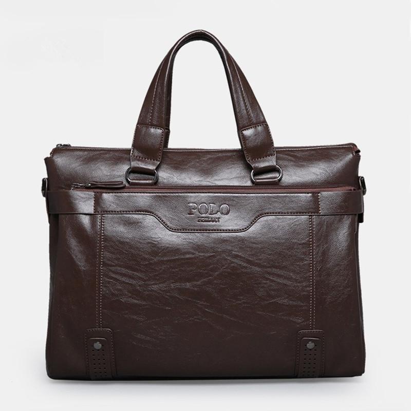 Leather briefcase 2015 fashion men bag, men's travel bags, bussiness laptop handbag, shoulder bag maleta carteira masculina(China (Mainland))