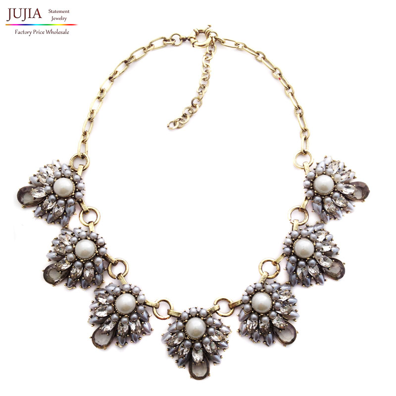 Fashion 2016 New necklace & pendant chain statement simulated pearl bubble collar choker Necklaces women - JUJIA Official Store store