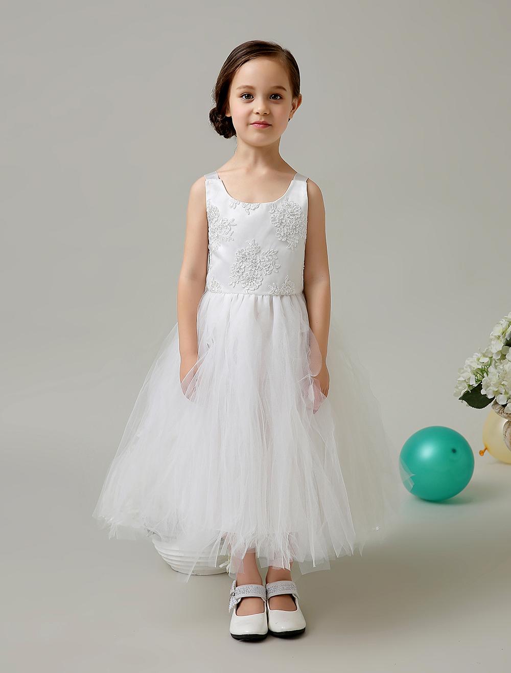 Girls White Formal Dress Good Dresses