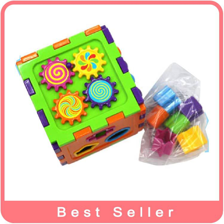 Shape Sorting Cube Early Development Learning Toy For Toddlers Educational Colorful Baby Toy Baby education toys Free Shipping(China (Mainland))