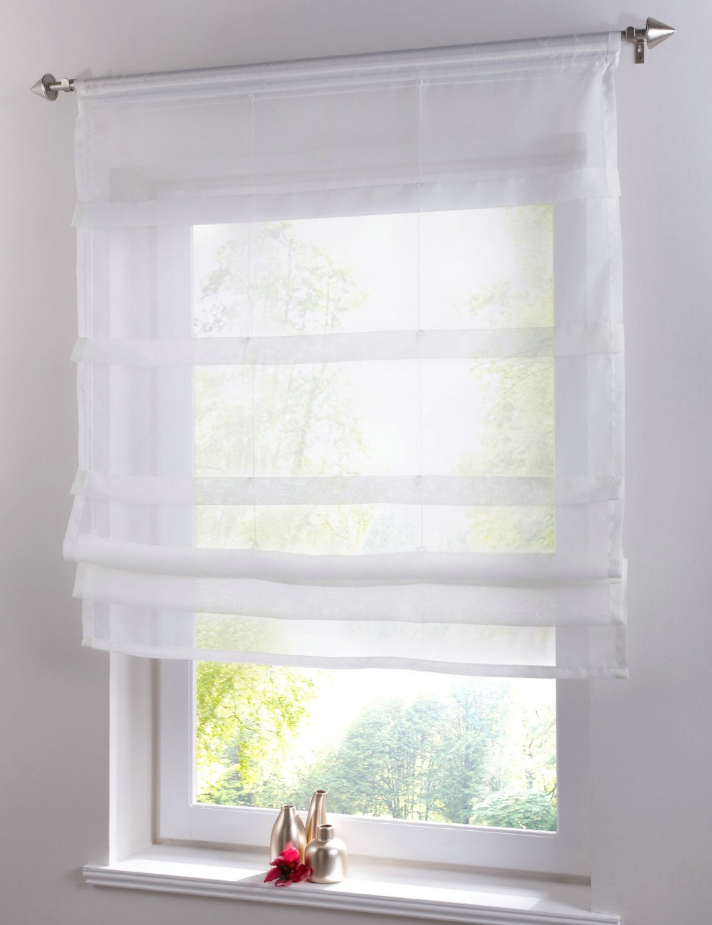 Popular sheer window curtain for Window voiles