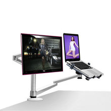 OA-7X Multimedia Desktop Dual Arm 25inch LCD Monior Holder+ Laptop Holder Stand Table Full Motion Dual Monitor Mount Arm Stand(China (Mainland))