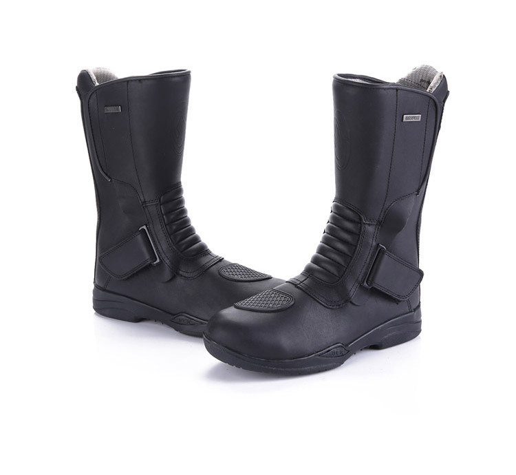 New design genuine leather Waterproof Motorcycle Boots,Racing Boots ,street bike boot size 39-45(China (Mainland))