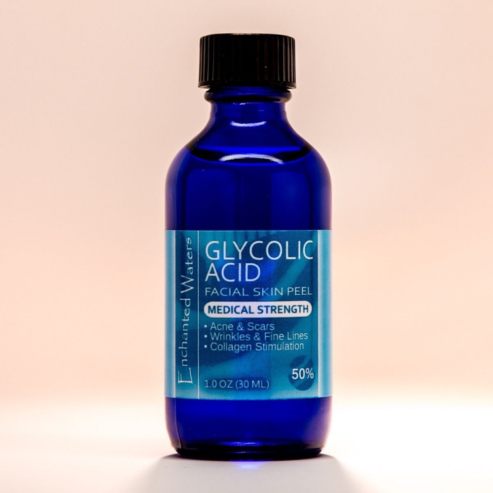 Free Shipping 50% GLYCOLIC ACID Chemical Peel Kit Medical Grade 100% Pure! Acne-Scars-Wrinkles