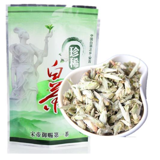 .Free shipping 100g Silver Needle tea , White Tea, Baihaoyinzhen Tea,Anti-old tea(China (Mainland))