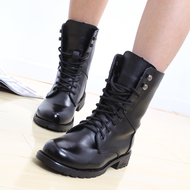 Model New 2014 Fashion Lace Up Women Motorcycle Boots Vintage Flat Ankle Boots For Women Lady Casual ...
