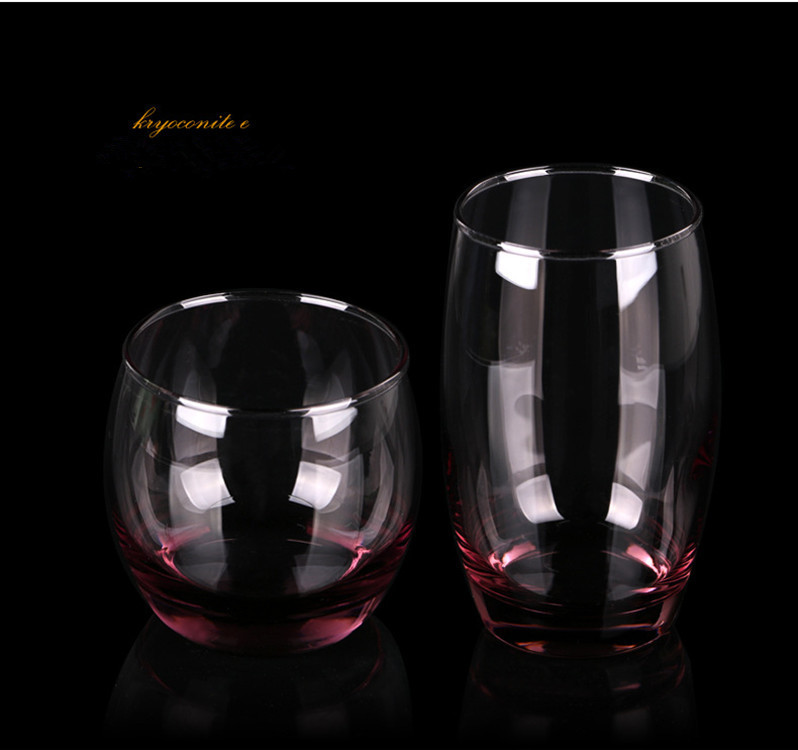 1Pcs Creative Blue Pink Crystal Glass Cup For Whiskey Wine Vodka Home Drinking Bar Cup Mug Heat-Resisting Clear Glass(China (Mainland))