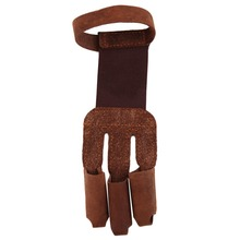 Archery Protect Glove 3 Fingers Pull Bow arrow Leather Shooting Gloves New Arrival(China (Mainland))