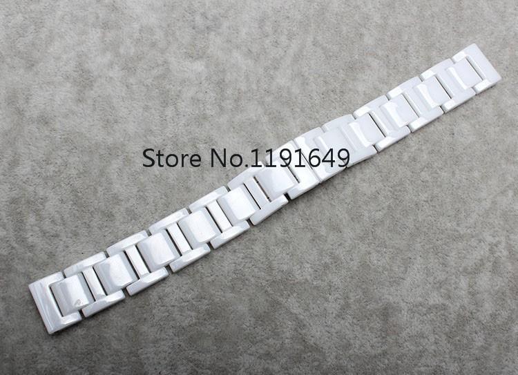 Часы аксессуары керамический белый ремешок для часов часы с бриллиантами вообще 16 18 мм