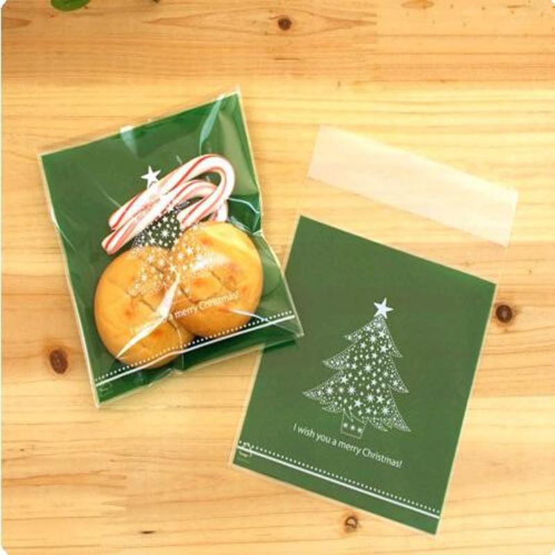 Christmas Decoration Wedding Gift : 50 pcs Plastic Christmas Gift Bag Bake Cookies Wedding Gifts Packaging ...