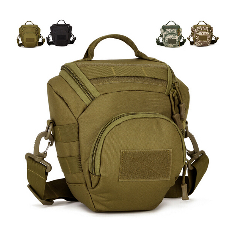 MOLLE Outdoor Sports Men Messenger Bag Camouflage Photography Camera Pack Hunting Tactical Shoulder Bags for Male Small Handbag(China (Mainland))