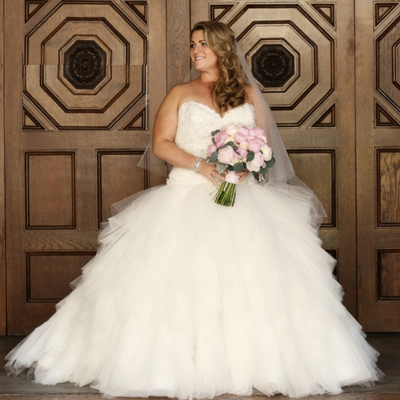 Best selling plus size wedding dresses 2016 long for Best plus size dresses to wear to a wedding