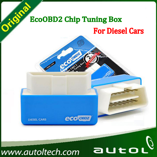 Auto ECU Chip Tuning Box Economy Device EcoOBD2 Plug&Driver OBD2 Scanner For Diesel Cars(China (Mainland))
