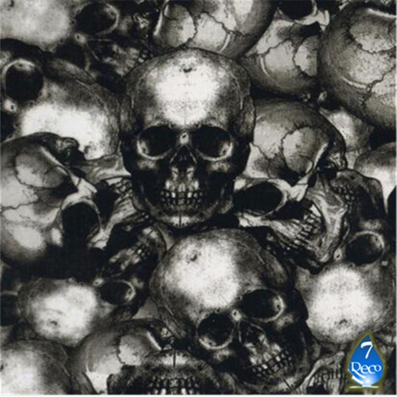 [Width 0.5M] FREE SHIPPING Skull Water Transfer Printing Film, 0.5M*10M Hydrographic film, Pva Water Soluble Film(China (Mainland))