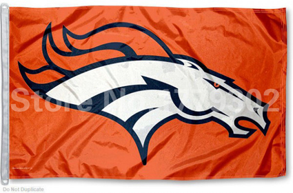 Denver Broncos Flag NFL Flag orange, wild and Broncos blue 3 ft x 5 ft 100 d Polyester free shipping(China (Mainland))
