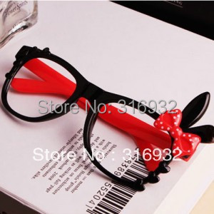 Hello rabbit ear glasses frame for Women , without lens, 5pcs/lot