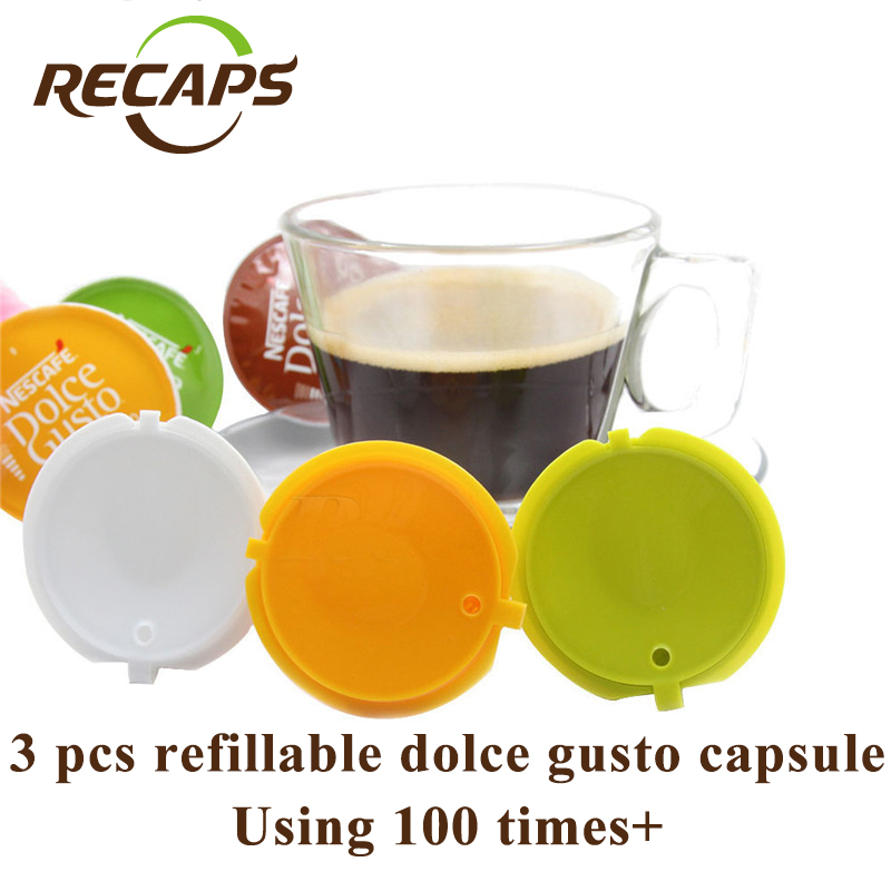 3pcs pack refillable dolce gusto coffee capsule nescafe dolce gusto reusable capsule. Black Bedroom Furniture Sets. Home Design Ideas