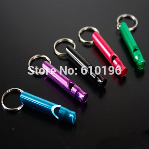 Colorful Aluminum Survival Large Whistle Outdoor Sports Camping Hiking Travel Necessity Key Chain Style Easy Carry(China (Mainland))