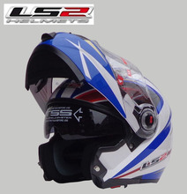 New helmet LS2 ff370 motocross helmet motorcycle LS2 helmet double lens ff370 latest version have bag 100% Genuine(China (Mainland))