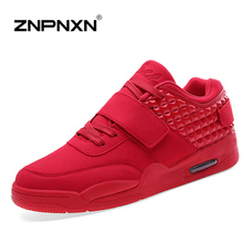 2016 Brand New Men Shoes Men Casual Shoes Man Trainers Breathable Red High Top  Chaussure Homme