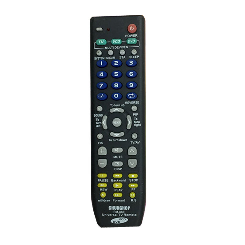 Universal TV VCD DVD Remote Control For Hisense SONY Panasonic TCL Television(China (Mainland))