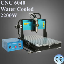 CNC6040 2200W CNC Router Desktop USB CNC Router Engraver Wood Milling Carving Engraving Machine Water Cooled Spindle Motor(China (Mainland))