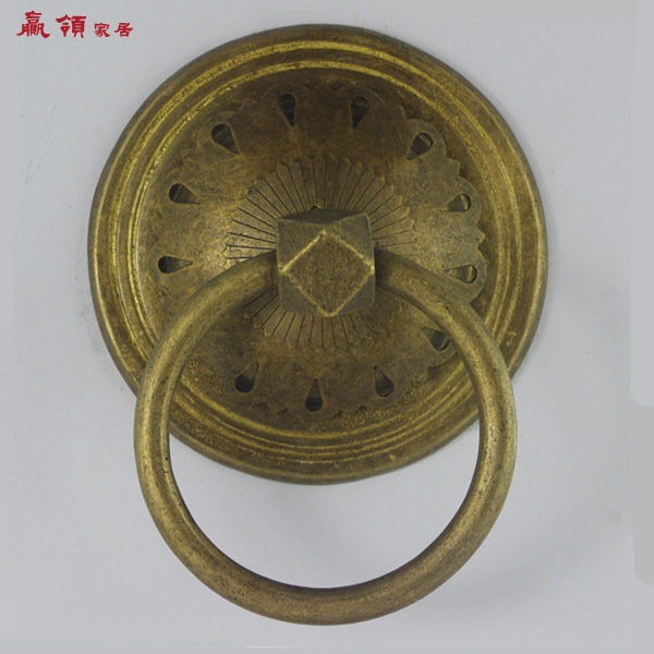 Chinese decoration home win collar antique copper door knocker can be mounted glass door handle YLH087 11CM<br><br>Aliexpress